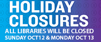 Libraries closed for Thanksgiving