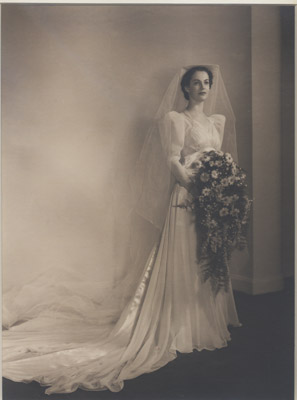 Photograph: Barbara Sayers Gooderham in her wedding dress