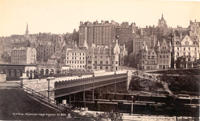 Photograph: Old Town, Edinburgh from Princes St. 304