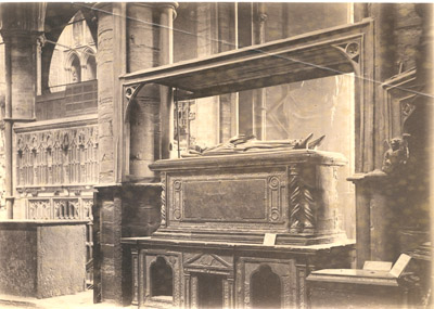Photograph: Sarcophagus Eleonara Di Bahun Duchess of Gloucester Abbess of Barking