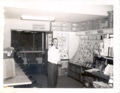 Photograph- Tom Weaver in Weaver Brothers Store, Lorne Park