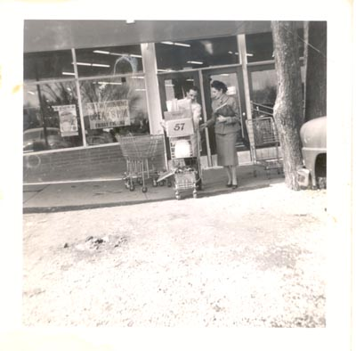 Photograph- Tom Weaver outside Weaver Brothers Store, Lorne Park