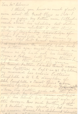 Letter: Mary Edith Grant (?) to Mr. Osbourn