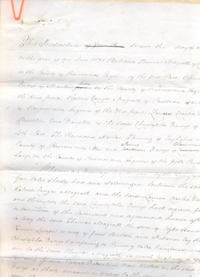 Document: Draft of Marriage Settlement between Thomas Magrath and Louisa Davys