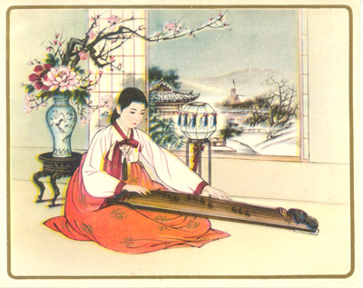 Christmas Card: Woman with Instrument