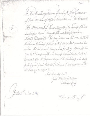 Photocopy: Merigold Land Lease Request March 5 1817