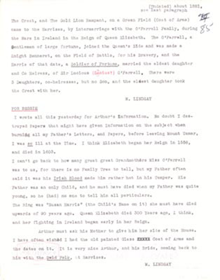 Transcript: O'Farrell Connection and Coat of Arms
