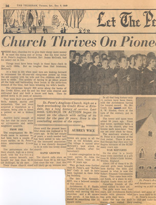 Newspaper Clipping: Church Thrives on Pioneer Day Roots