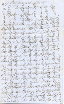Letter: A. Weld to Charles Magrath December 3 1850