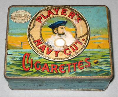 Cigarette Tin: Player's Navy Cut Cigarettes
