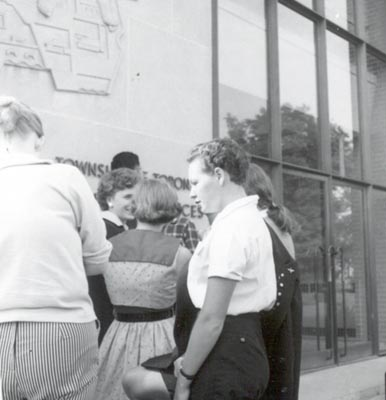 Women in Front of Township of Toronto's Municipal Offices