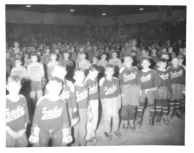 Photograph- Junior Hockey Teams inside Dixie Arena