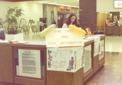 Photograph- Dime Days and City Information at Westwood Mall