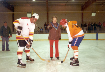 Photograph - Mayor McCallion Dropping the Puck