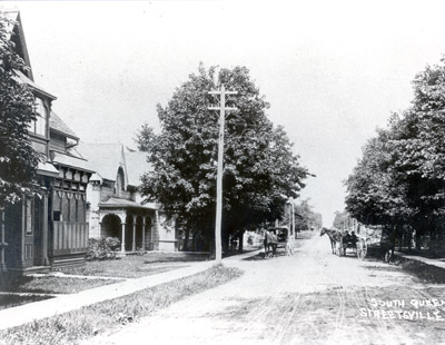 Photograph- Reproduced Photo of Queen Street- Streetsville