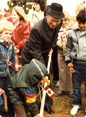 Photograph- Tree Planting at City Hall with MPP Douglas Kennedy