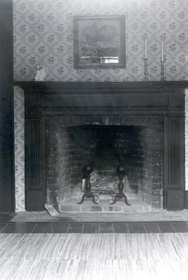 Photograph- Fireplace in Bradley Museum
