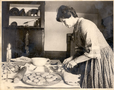 Photograph- Interpreter making Cookies in Kitchen
