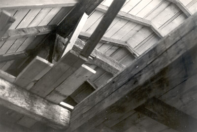 Photograph- Wooden Ceiling Inside of Bradley Barn