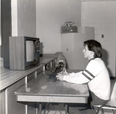 Photograph- Boy playing a Videogame