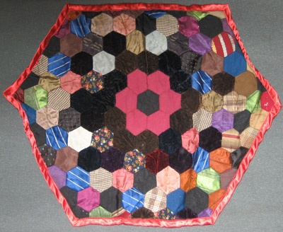 Pieced Quilted Table Cover or Cushion