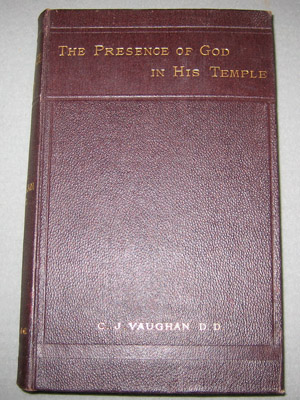 "Book - ""The Presence of God in His Temple"""
