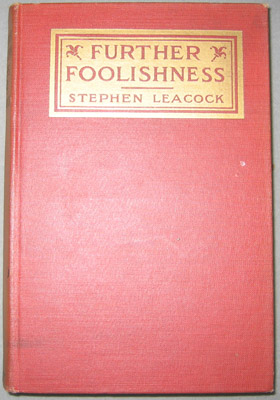 "Book - ""Further Foolishness"""