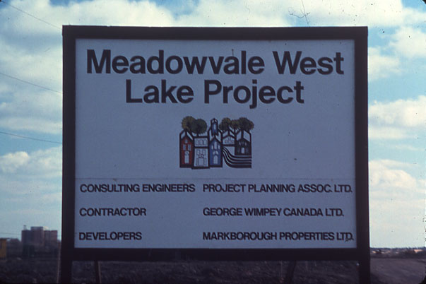 Meadowvale West Lake Project Sign