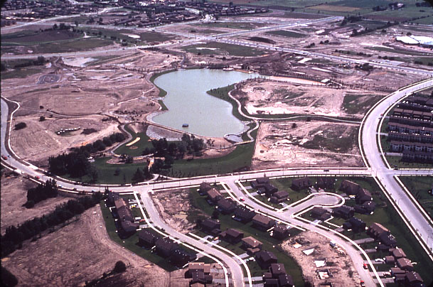 Lake Aquitaine, Parks Construction, Aerial View