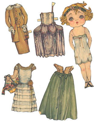 "Paper Doll and Clothes ""Bonnie"""