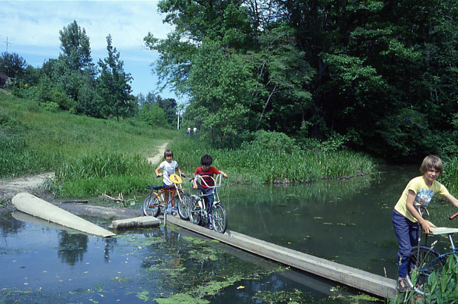 Rattray Marsh Conservation Area,  Bikers, Clarkson
