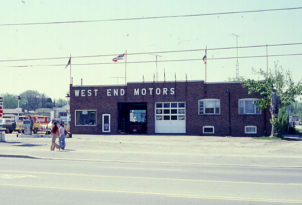 West End Motors and Trailer Park, Cooksville