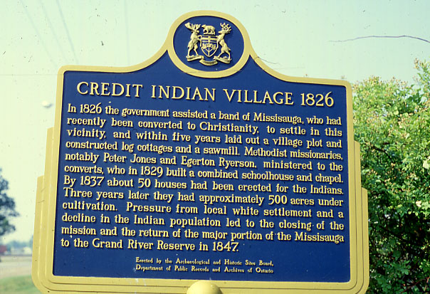 Credit Indian Village Plaque, Erindale