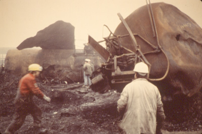 Mississauga Train Derailment, November 10, 1979, Cooksville