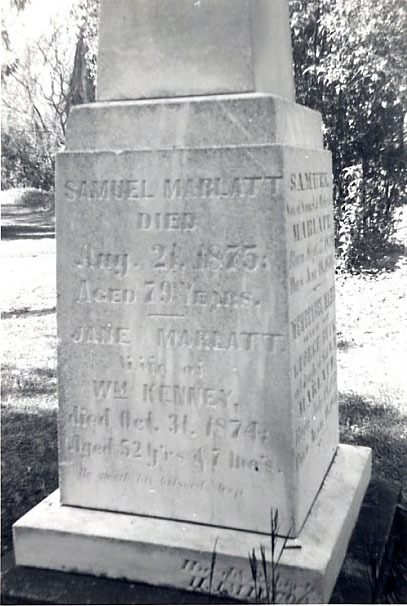 Marlatt Monument, St. Peter's Anglican Church Cemetery, Erindale