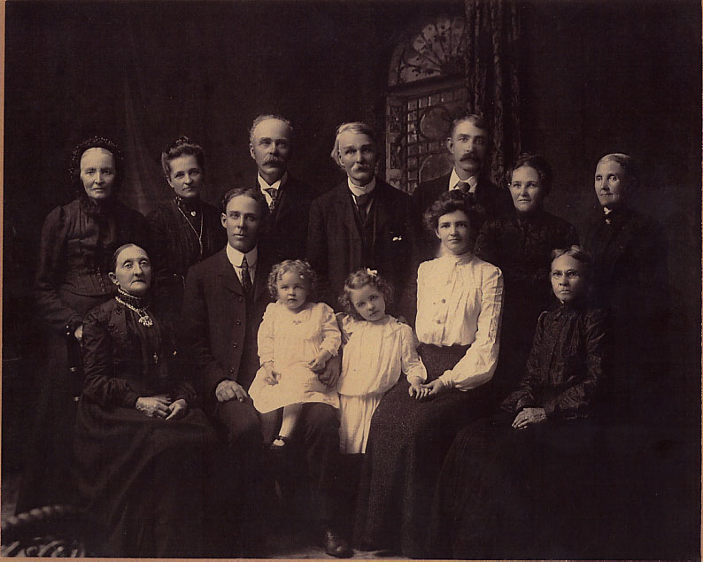 Harry Burton and Helena Trimble Burton and Family