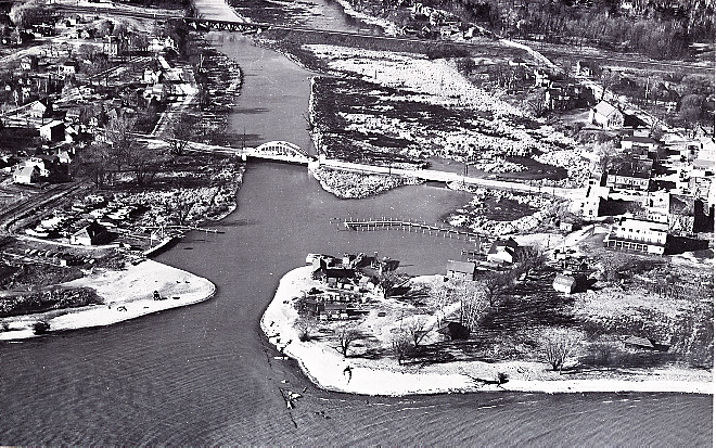 Port Credit Harbour, Aerial View, 1949