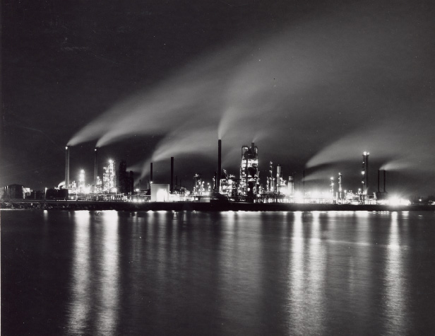 British-American Oil Refinery at Night, Clarkson