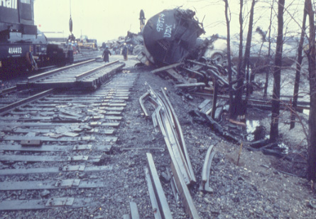 Mississauga Train Derailment, November 11, 1979, Cooksville