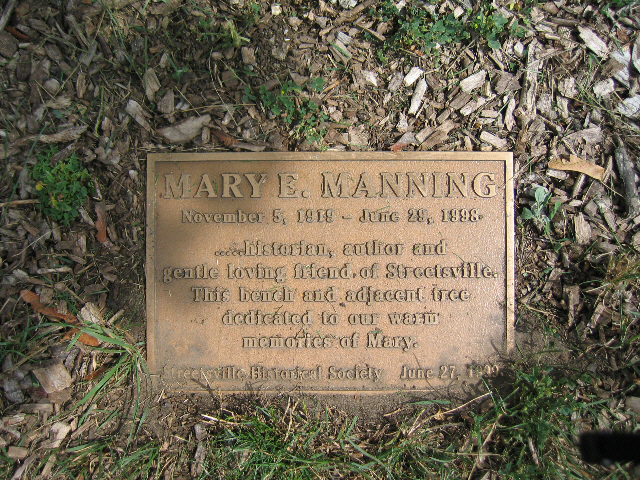Mary Manning Plaque