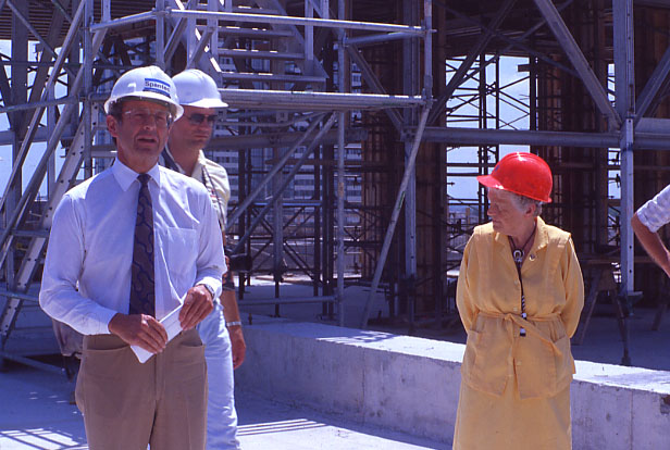 Mayor McCallion at Central Library Topping Off Ceremony, July 1989