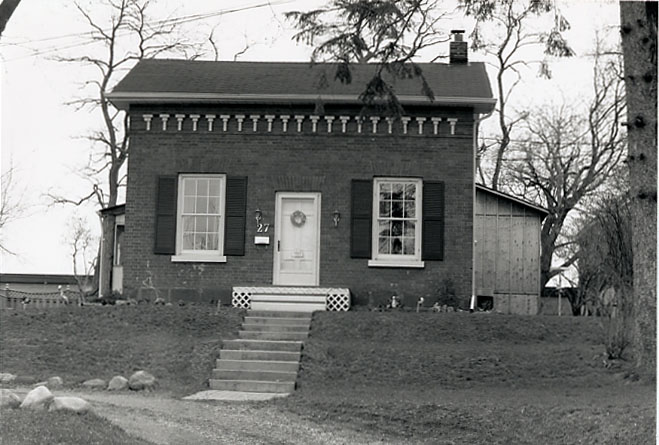 Abigail Street House, North Front Façade, Streetsville