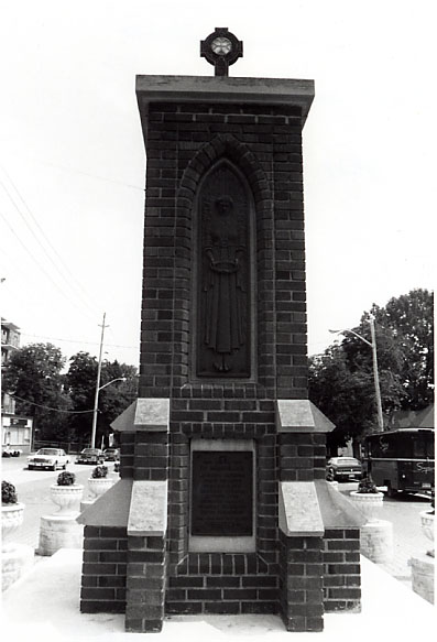 Streetsville War Memorial (Cenotaph), West Face
