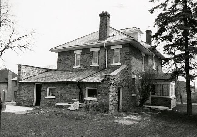 Alfred Adamson House, Rear North Façade, Erindale