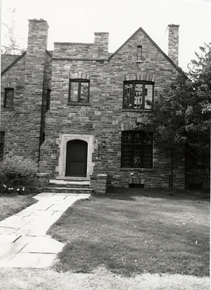 Lislehurst, Main Entry and Library Window, Erindale