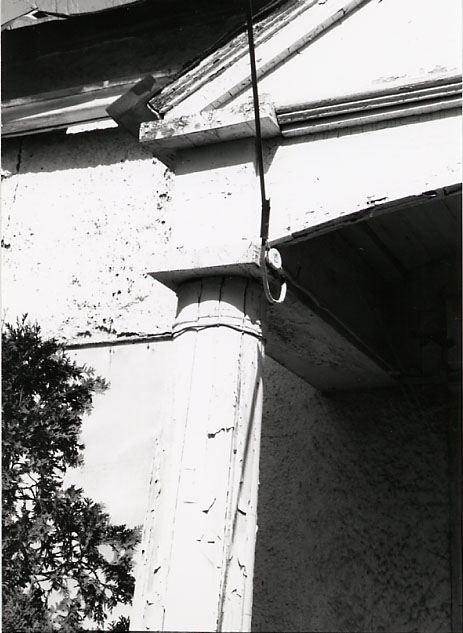 Harris House, Portico Detail, Cooksville