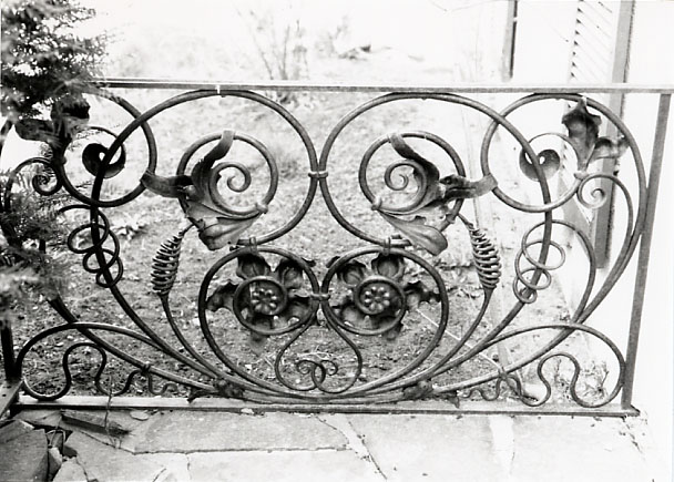 Shepard House, Wrought Iron Detail, Cooksville