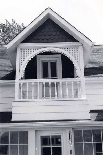 Smith Residence, Gable and Balcony, Lorne Park