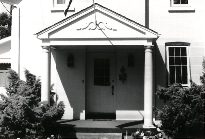 Charles Terry House, Portico, Clarkson