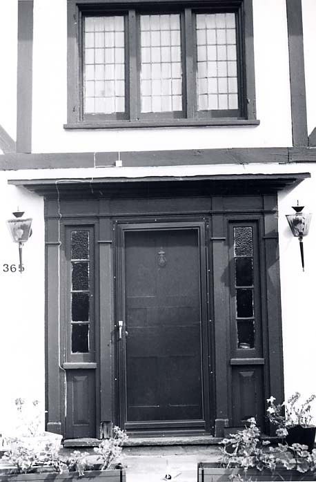 Hook Residence, Front Door and Window, Streetsville